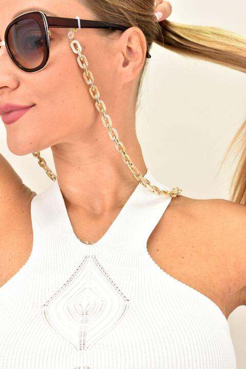 Γυναικεία αλυσίδα γυαλιών - Χρυσό