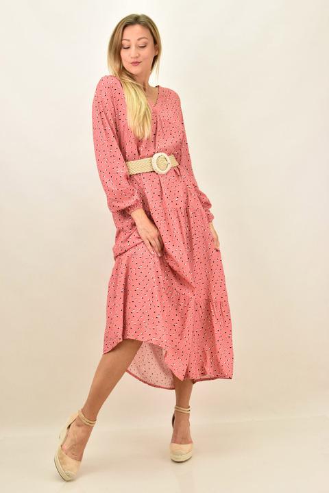 Γυναικέιο φόρεμα μάξι - Κοραλί