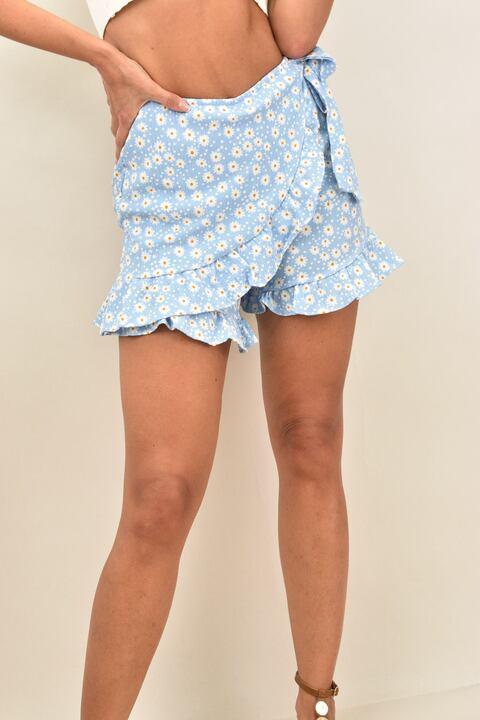 Γυναικεία φούστα- σορτσάκι   - Γαλάζιο