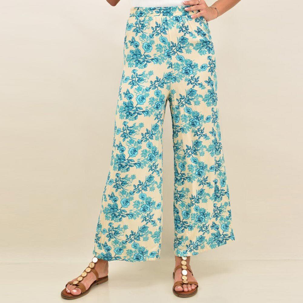 Γυναικεία παντελόνα με σχέδιο φλοράλ