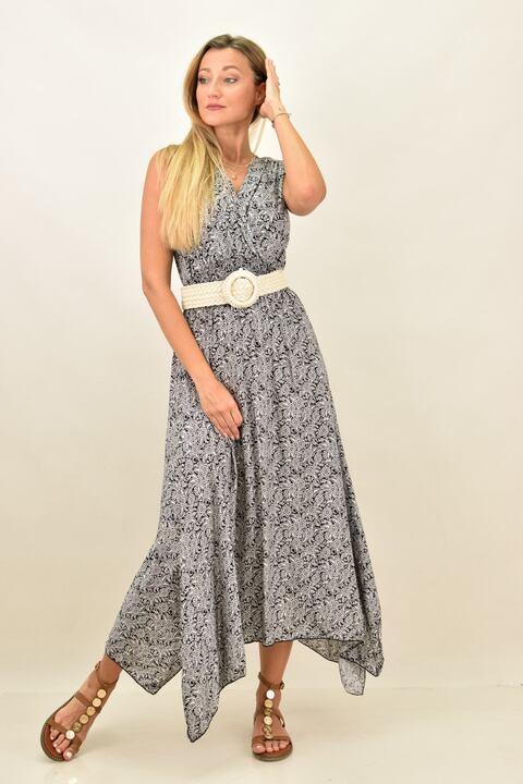 Γυναικείο φόρεμα μακρύ - Μαύρο