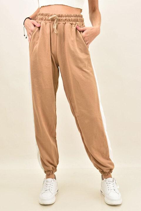 Γυναικείο παντελόνι φόρμας  - Μπεζ
