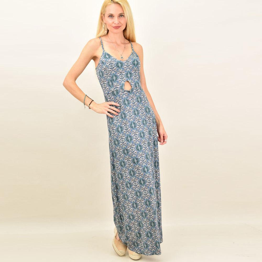 Γυναικείο φόρεμα maxi εμπριμέ