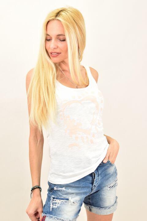 Γυναικεία μπλούζα με καρδιά - Σομόν