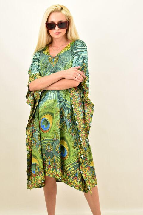 Γυναικείο boho καφτάνι - Πράσινο
