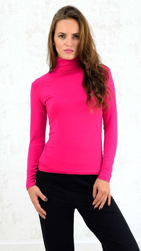 Μπλουζάκι με ζιβάγκο - Φούξια