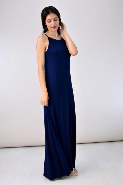 Φόρεμα με τιράντες - Μπλε Σκούρο