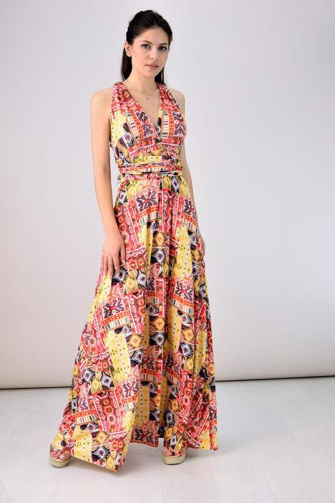 Πολυμορφικό φόρεμα - Κίτρινο