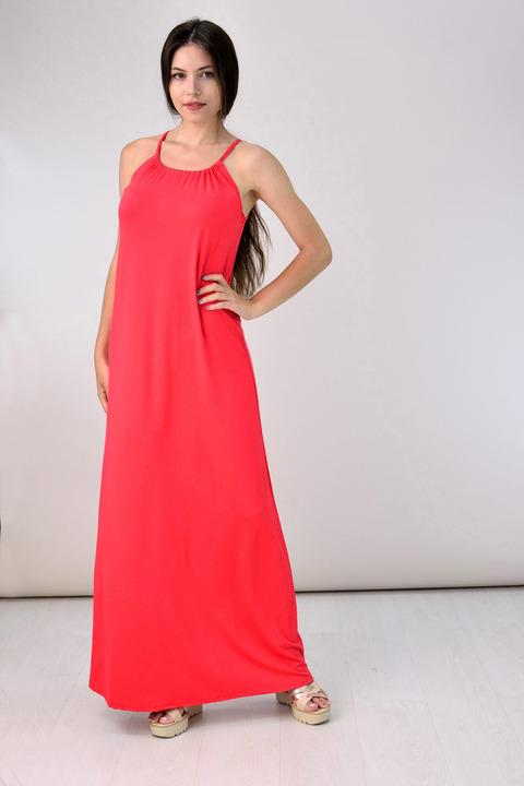 Μάξι φόρεμα - Κοραλί