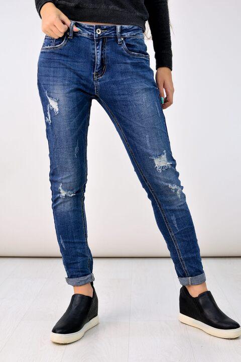 Παντελόνι τζιν ψηλόμεσο - Μπλε Τζιν