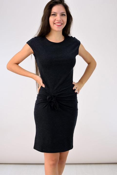 Φόρεμα με κόμπο - Ανθρακί