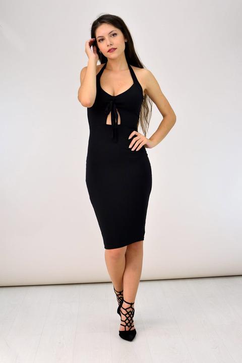 Push-up φόρεμα - Μαύρο
