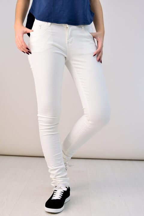 Υφασμάτινο παντελόνι - Λευκό