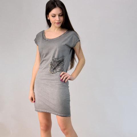 Φόρεμα μίνι με τρουκ