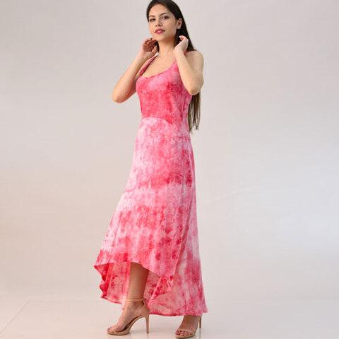 Φόρεμα ασύμμετρο με νερά