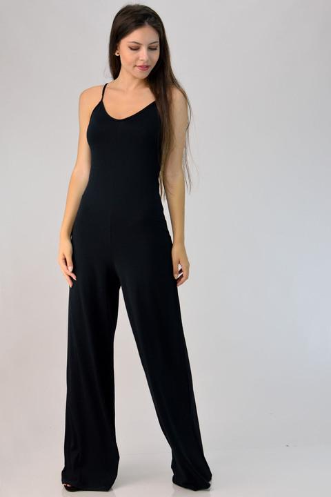 Ολόσωμη φόρμα μονόχρωμη - Μαύρο