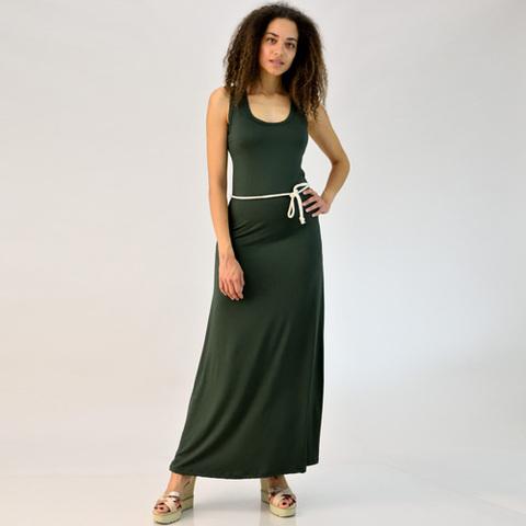Φόρεμα με αθλητική πλάτη και ζώνη
