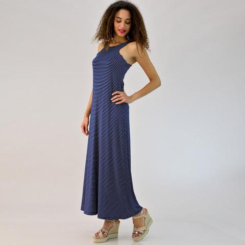 Φόρεμα μάξι με άνοιγμα τύπου δάκρυ