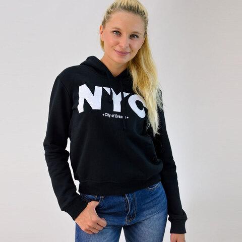 Φούτερ με κουκούλα και τύπωμα 'NYC'