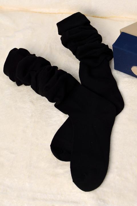 Γυναικείες μακριές κάλτσες - Μαύρο