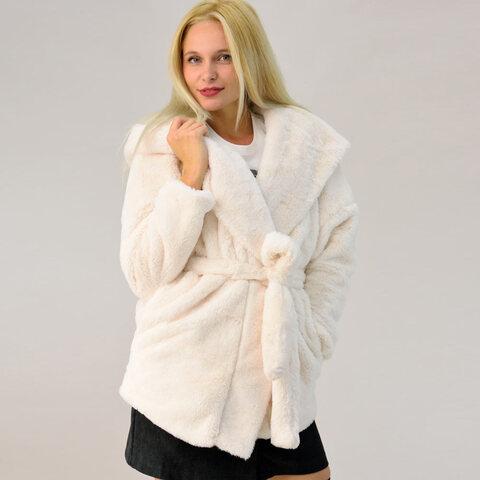 Γυναικείο παλτό γούνα με ζώνη
