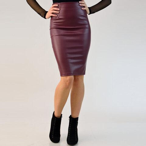 Γυναικεία φούστα midi δερματίνης 41ce240a70d