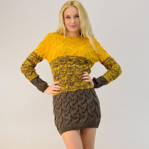 Γυναικείο πλεκτό φόρεμα πολύχρωμο