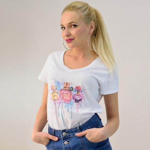 Γυναικεία μπλούζα με τύπωμα και στρας