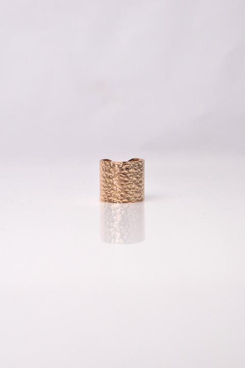 Δακτυλίδι ανάγλυφο σε χρυσό χρώμα - Χρυσό