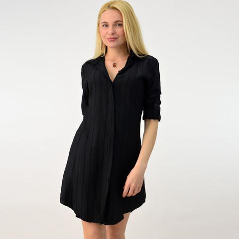 Φόρεμα πουκάμισο με εξωτερικές ραφές
