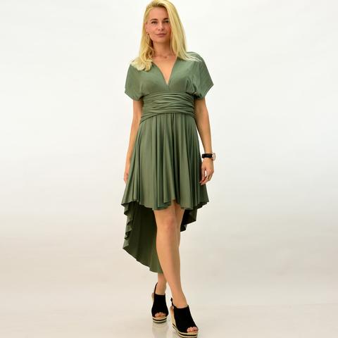 Πολυμορφικό φόρεμα ασύμμετρο