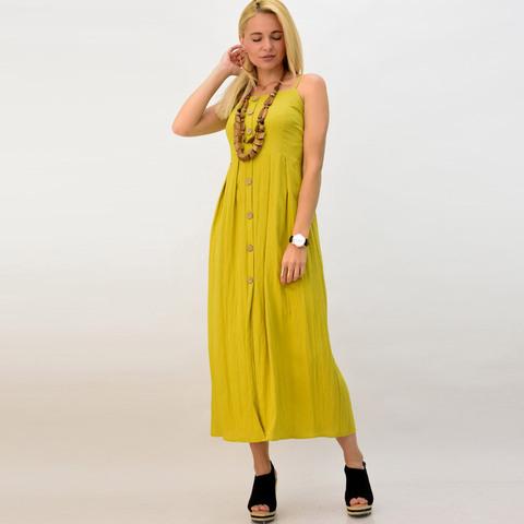 Λινό φόρεμα με κουμπιά