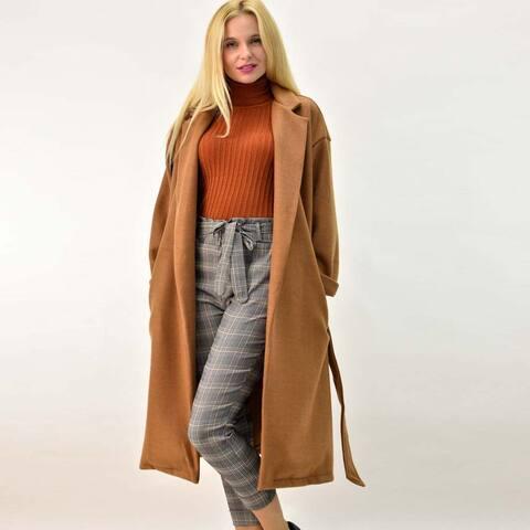Παλτό μακρύ με ζώνη