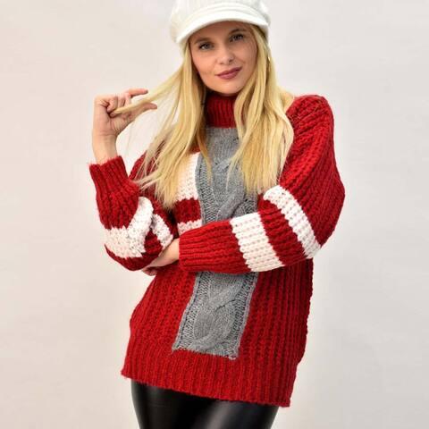 Γυναικείο πουλόβερ με ρίγα