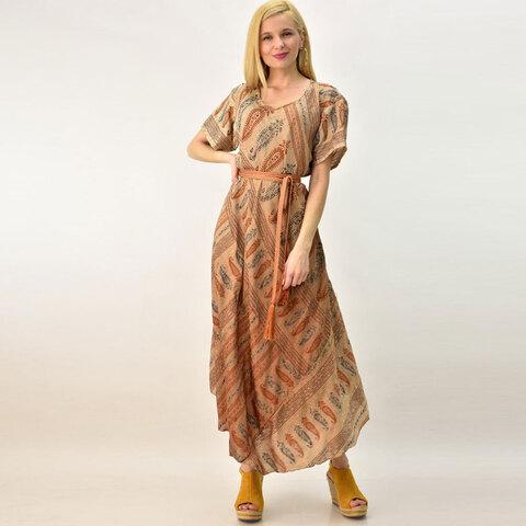 Γυναικέιο μεταξωτό φόρεμα boho