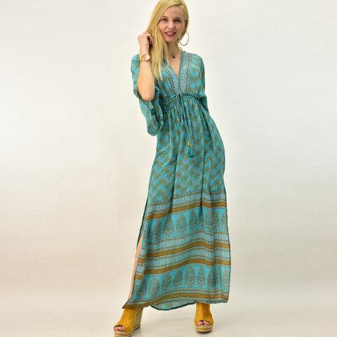 Γυναικείο μεταξωτό φόρεμε boho