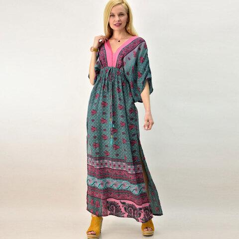 Γυναικείο μεταξωτό φόρεμα boho