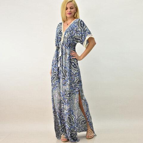 Φόρεμα καφτάνι με δαντέλα