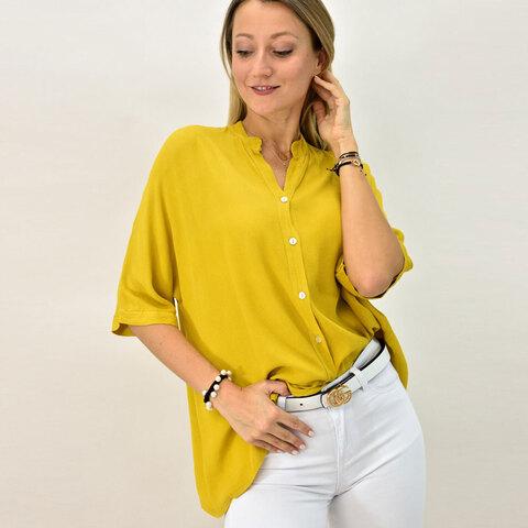 Γυναικείο πουκάμισο με μάο