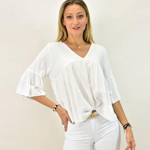 Γυναικεία μπλούζα με βολάν