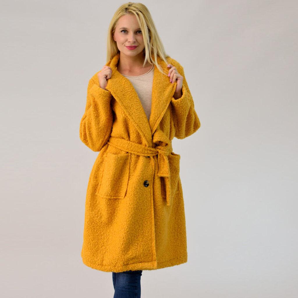Παλτό από συνθετικό μαλλί προβάτου  00bd392483d